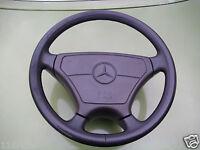 Lederlenkrad Sportline brasil braun, 39 cm, für Spule Mercedes-Benz W124 spät