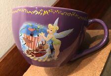 Disney Store Tinkerbell Fairy Purple Peter Pan Coffee Mug Cup Tea Oversized