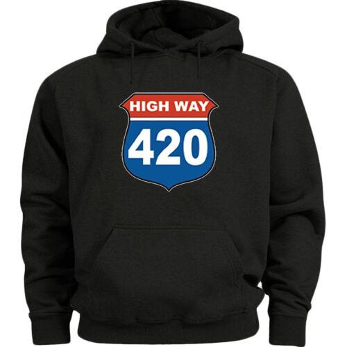 420 Stoner Weed Gifts Funny Cannabis Hoodie Mens Sweatshirt