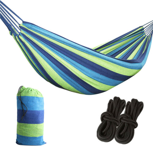 Bag Large Hammock Canvas Camping Bed Garden Travel Beach Outdoor Swing Hanging