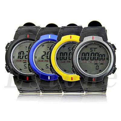 New Waterproof Fashion Men's LCD Digital Stopwatch Date Rubber Sport Wrist Watch