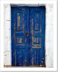 blue door art print home decor wall art poster  j  ebay