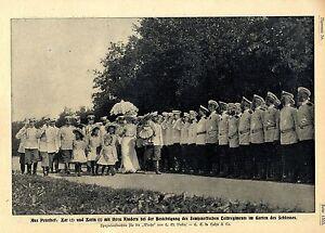 Russische Zarenfamilie Semjenoffsche Leibregiment In Schloß Peterhof C.1906 Ungleiche Leistung