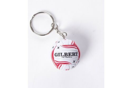 Gilbert Unisex England Netball Keyring White Sports Training Accessory
