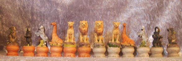 Schachfiguren Wildnis Wildlife Urwald Tiere  Schach Figuren  NEU