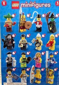 Lego Minifigure Series 2 Figures 8684 Spartan Vampire Disco Dude Pharaoh Mime