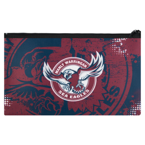 Manly Warringah Sea Eagles NRL Pencil Case for School Work stationary Gift
