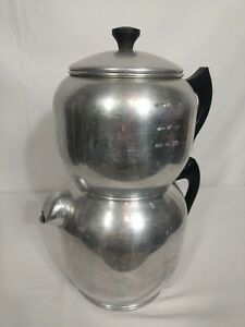 Vintage-Tall-West-Bend-Aluminum-Quick-Drip-Coffee-Maker-Pot-18-Cup-Stove-Top