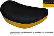 BLACK & YELLOW CUSTOM FITS SUZUKI LS 650 SAVAGE FRONT LEATHER SEAT COVER
