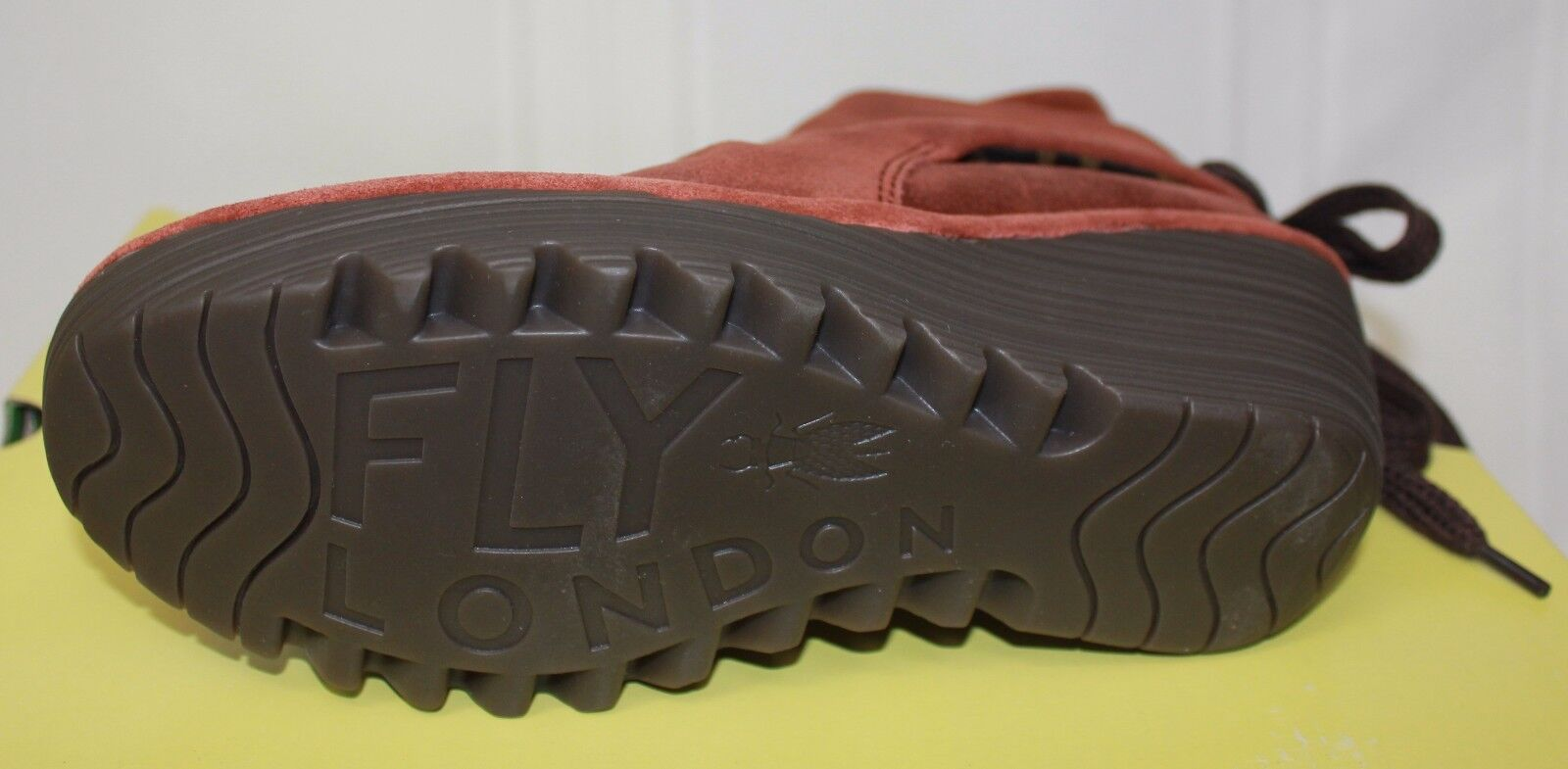 Fly London Yama cuñas de Nuevo aceite de ladrillo botas De Gamuza Nuevo de  con Caja ea0100