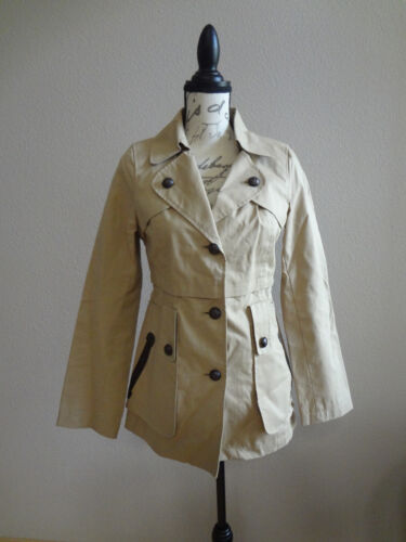 MACKAGE Trenchcoat Jacket with Leather Detail Size