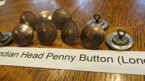 CONCHOS REAL BUFFALO NICKEL COIN BUTTONS SNAPS Indian Head Pennies GENUINE