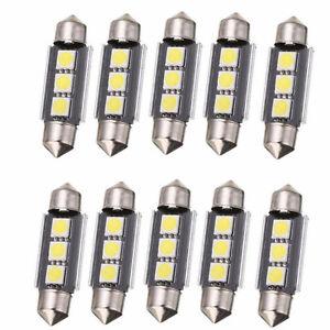 10X-39mm-3LED-5050-SMD-C5W-CANBUS-Error-Free-Festoon-Dome-Light-Lamp-Bulbs-White