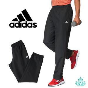 Détails sur Adidas Hommes Survêtement Bottoms Essentiel Stanford Tissé Pantalon De Survêtement Léger Pantalon Noir afficher le titre d'origine