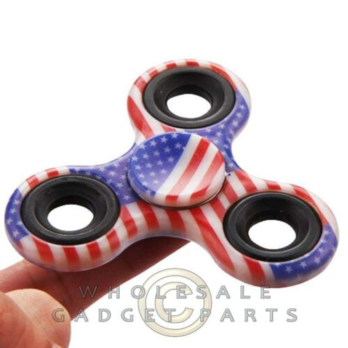 American Flag Bearing Focus EDC ADHD Finger Toy Hand Triangle Fidget Spinner