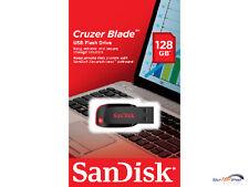 Sandisk Cruzer Blade 128GB USB Stick 128 GB NEU USB 2.0 SDCZ50-128G-B35 OVP