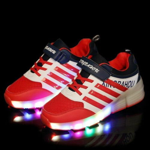 Kids Glowing Sneakers Sneakers With Wheels Led Roller Skates Sport Shoes