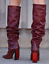 VETEMENTS-REFLECTOR-DARK-RED-LEATHER-SLOUCH-OVER-THE-KNEE-BOOTS-EU-40-US-10 thumbnail 5