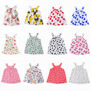 Image Is Loading Toddler Infant Kids Baby Girls Floral Print Summer