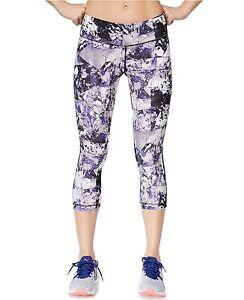 1cb4c25dde5e23 New IDEOLOGY Women's Printed Capri Cropped Leggings Stone Geo Yoga ...
