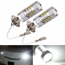 2X H3 80W CREE Super Bright LED White Fog Tail Turn DRL Head Car Light Lamp Bulb