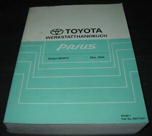 Werkstatthandbuch-Toyota-Prius-Typ-NHW11-Stand-Mai-2000-Reparatur-Handbuch