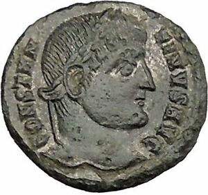 CONSTANTINE-I-the-GREAT-Silvered-Ancient-Roman-Coin-Military-Camp-gate-i39259