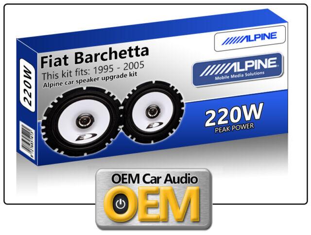 "Fiat Barchetta Front Door speakers Alpine 17cm 6.5"" car speaker kit 220W Max"
