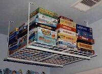 Ceiling Mounted Garage Shelf Rack Overhead Storage System