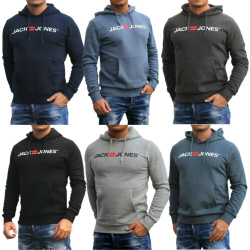 Herren Jack and Jones Sweatshirt Kapuze Hooded Pullover Rundhals Sweat Crew Neck