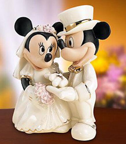 Lenox Disney Mickey Minnie/'s Dream Wedding Cake Topper Figure Bejeweled Ring New