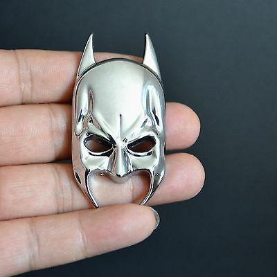 Chrome 3D Batman Mask Metal Logo Badge 3M Decal Body Sticker For Racing Car Auto