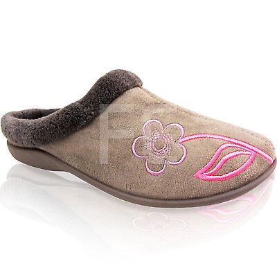 Nuevo Para Mujer Damas Suela Dura comfortale Slip On Mula Zapatillas Zapatos Talla Suave