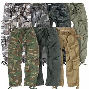 SURPLUS-AIRBORNE-MILITARY-CARGO-TROUSERS-MENS-ARMY-VINTAGE-COMBAT-WORKWEAR-PANTS