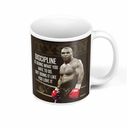 Mug Céramique Discipline Mike Tyson Boxer Citation Inspirante Anglais Motivation