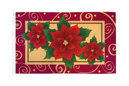 Poinsettias Flag 3x5ft