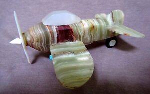 Native Zuni Banded Onyx & Multi-stone Fighter Plane by Jon Quam - C1091