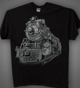 Steam-Train-Black-T-shirt-Crescent-Limited-Ps-4-Locomotive-1396