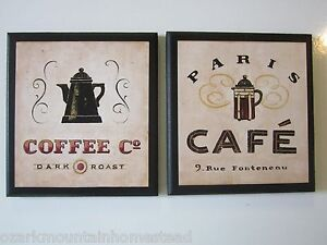 coffee pot wall decor signs country kitchen pictures paris rue rh ebay com