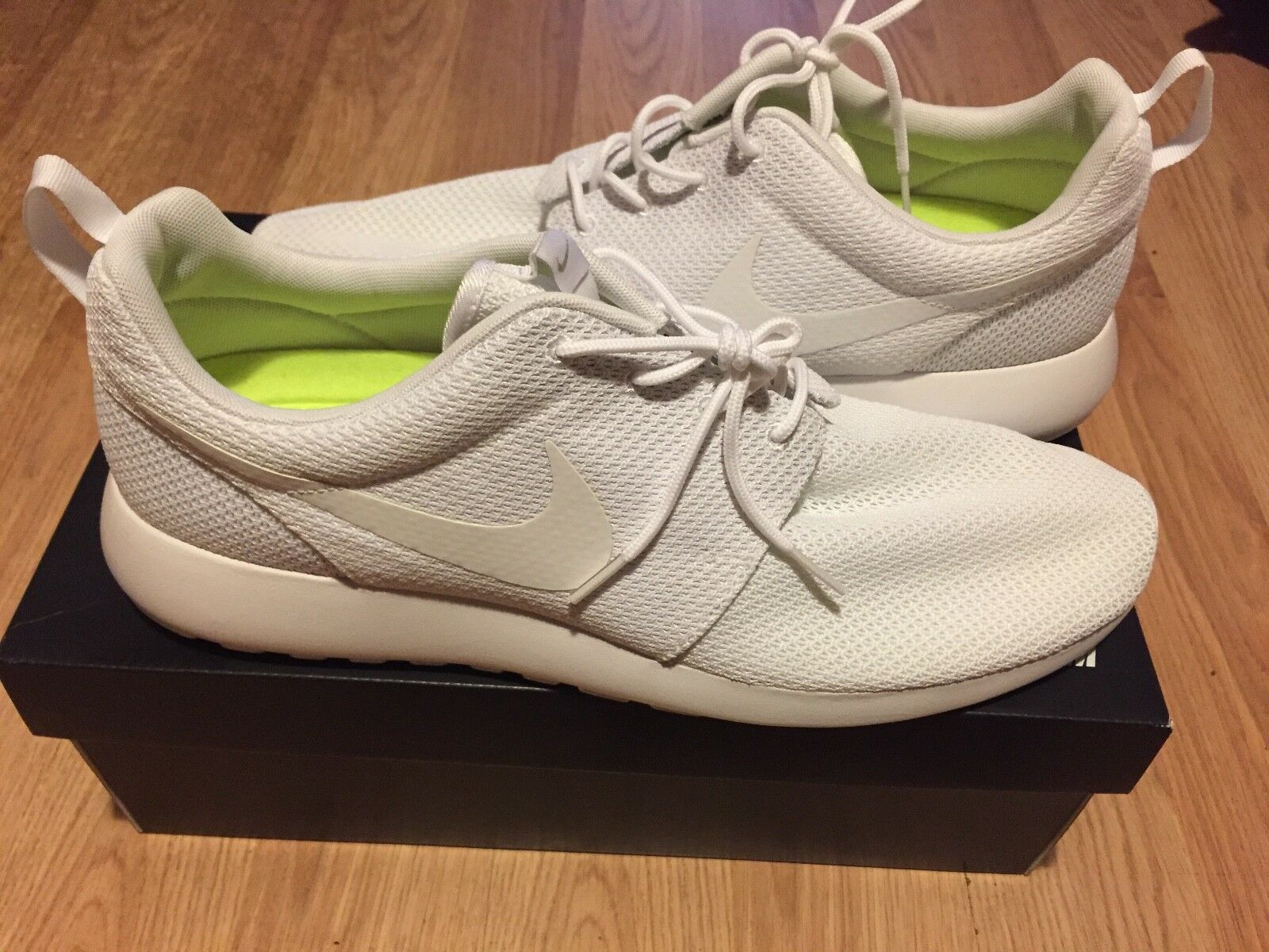 Brand New Nike Roshe Men's Size 14 All White Running Shoes