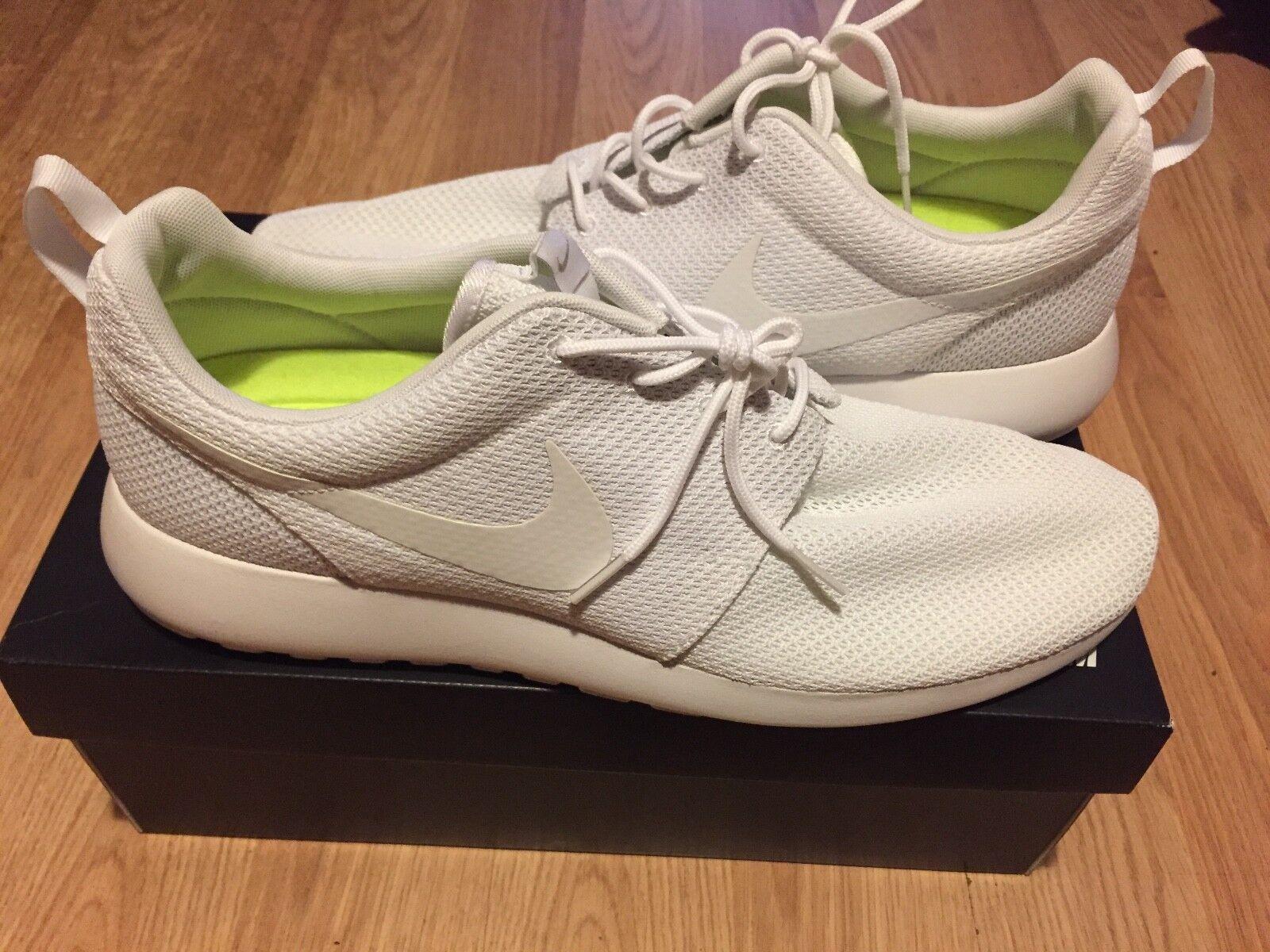Brand New Nike Roshe Men's Size 14 All White Running shoes