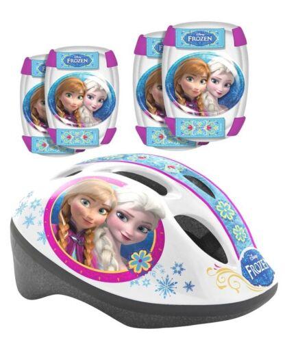 Frozen Eiskönigin Disney Kinderfahrrad Helm Knieschoner im Set