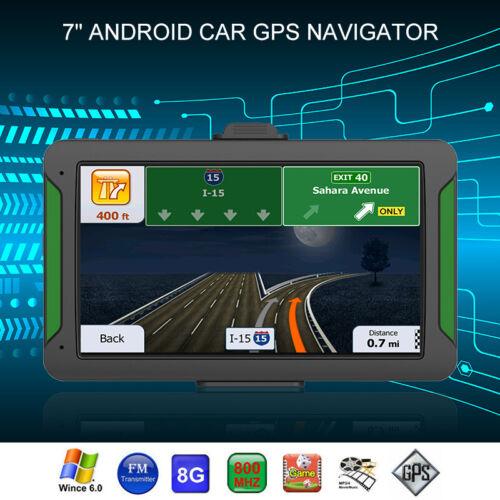 "GOOD 7/"" Truck Car GPS Navigator Navigation System Sat Nav Lifetime Free Maps 8GB"