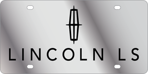 Lincoln MKX Mirror Polished 3D Finish Logo Stainless Steel License Plate