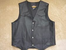 Harley Davidson Mens Leather Vest, XL Exellent condition