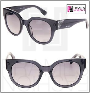 7d481d5572 Details about JIMMY CHOO OLA Translucent Grey Crystal Mirrored Square  Sunglasses Ola S Women