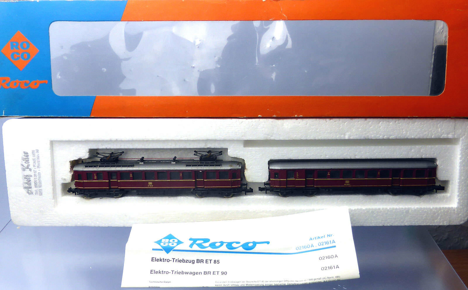 ROCO N 02160a; elettro-triebwagenzug et 485 DB Rosso in scatola originale/f288