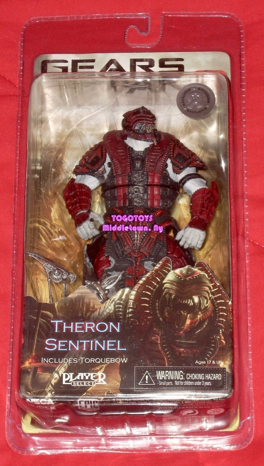 Neca Gears of War 3 Theron Sentinel Toys R Us Exclusive Action Figure