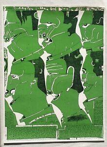 Horst-Janssen-1929-1995-pencil-signed-large-surrealist-lithograph-Laatzen-6