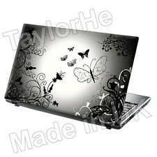 "15.6"" Laptop Skin Cover Sticker butterfly Silver 277"